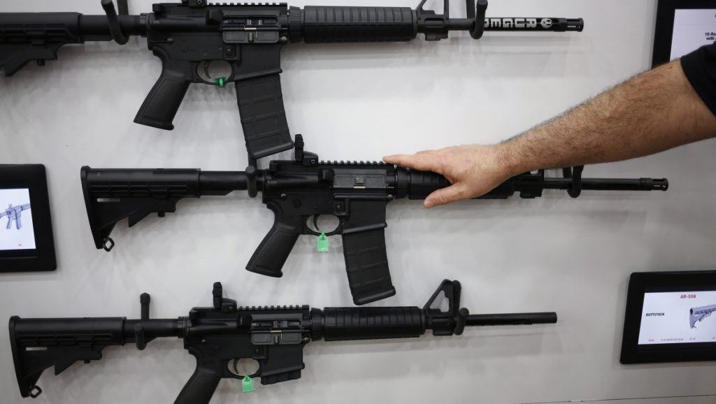 AR-15 rifles and their cousins are among the nation's most popular and profitable guns. The AR-15 fires one bullet with each pull of the trigger – thus, semi-automatic – but is easily modified to shoot continuously until the trigger is released.