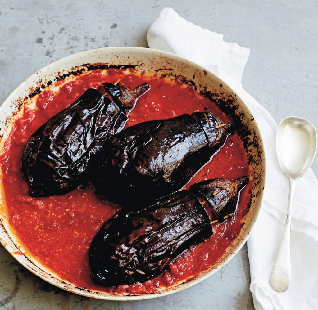 Our cookbook reviewer notes that preparing Stuffed Eggplant Dubrovnik-Style was one of the few times when a dish ended up looking just like the cookbook photo.