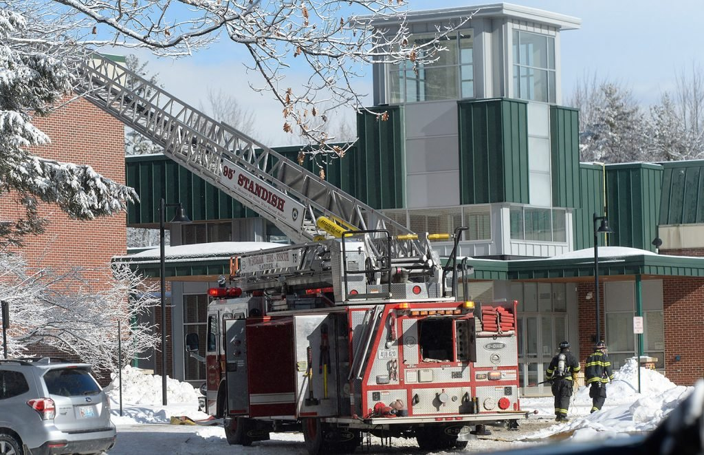 Firefighters from multiple departments were called to Bonny Eagle High School in Standish on Friday morning after heavy smoke was reported in the building.