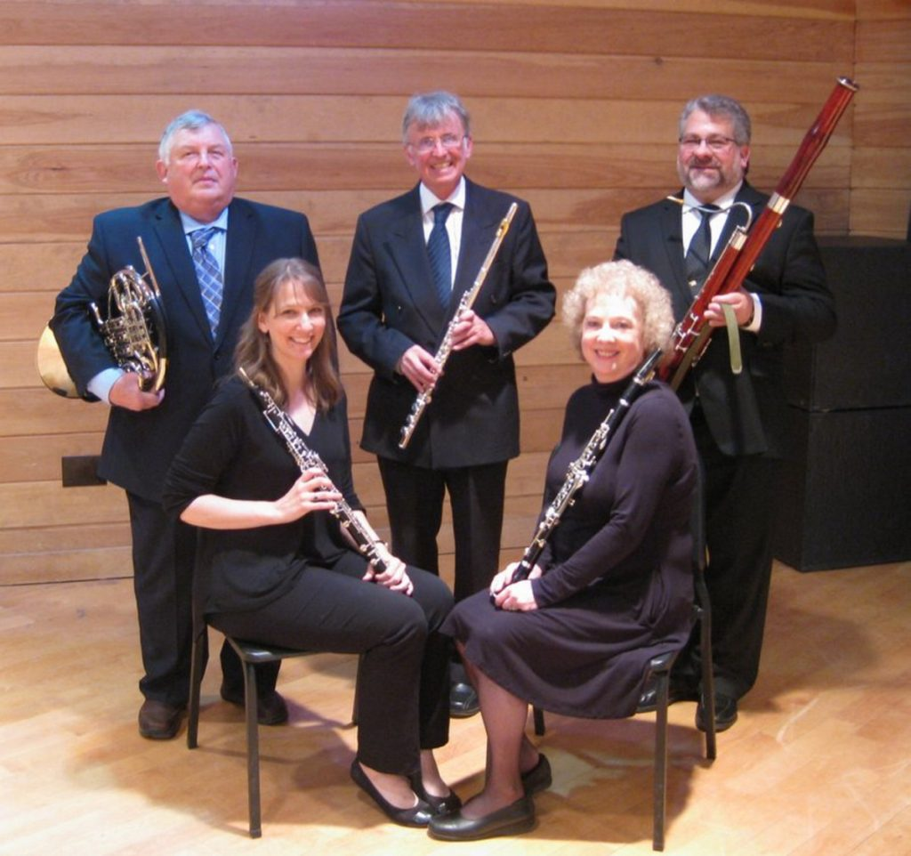 In back row, from left, are Lee Lenfest, Chris Lansley and Chris Falcone. In front, from left, are Necia Chaparin and Louise Foxwell.