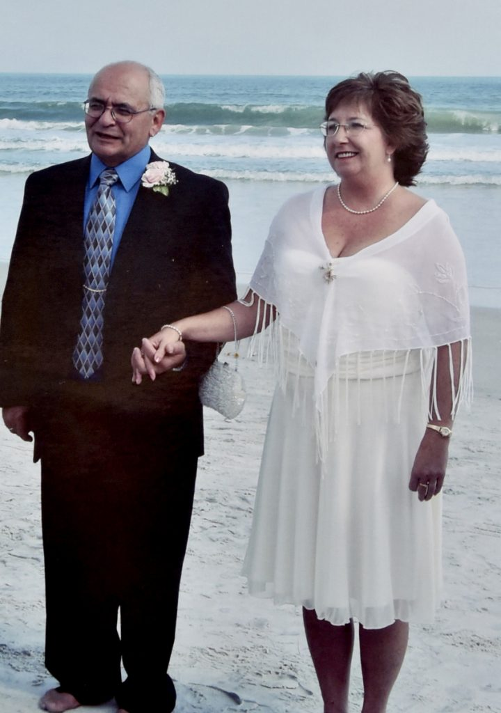 Deb Crowley Jones, of Canaan, is seen in a photograph with her former husband Gerard Pepin when they were married in 2016. Pepin, a drug counselor, has been charged and convicted of sexual battery of a woman who was his client.