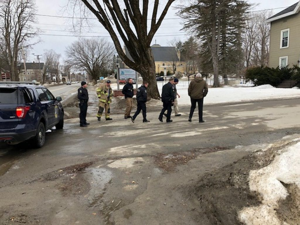 "Waterville police, fire and rescue personnel responded to a bomb scare Thursday morning at the Maine Children's Home for Little Wanderers. The word ""bomb"" had been written on a plastic bucket and left in the entryway of one of the buildings."