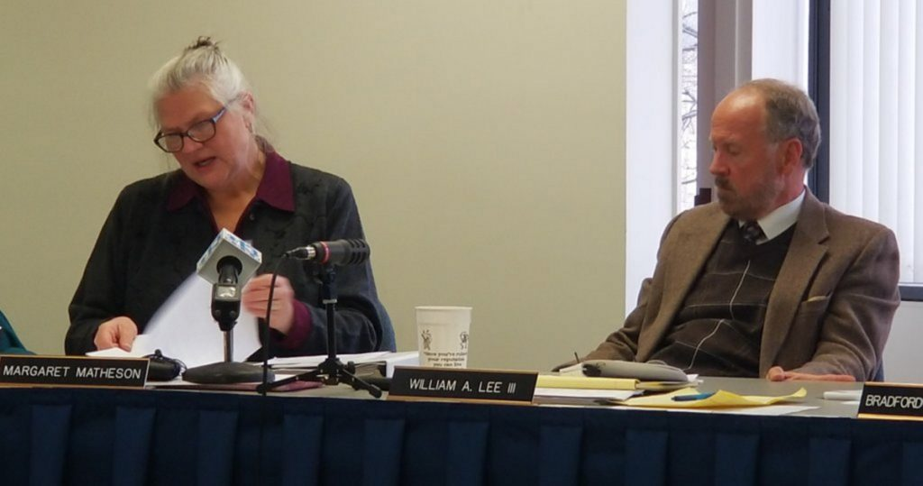 The Maine Ethics Commission, chaired by Margaret Matheson, left, voted Thursday to drop a possible investigation into a complaint filed by the Maine Democrats against the state Republican Party, its executive director and the Maine Examiner, an online paper. Commissioner William Lee III, right, argued that it ought to pursue the probe. Matheson said she was disturbed by the secretive website operated by Jason Savage, the Republican official, but didn't think the commission should devote more time to the issue.