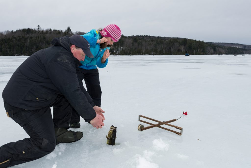 Wayne ice fishing derby helps get kids outside off the for Ice fishing derby game