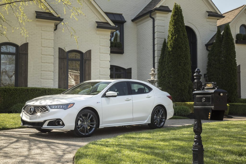 The 2018 Acura TLX V6 A-Spec.