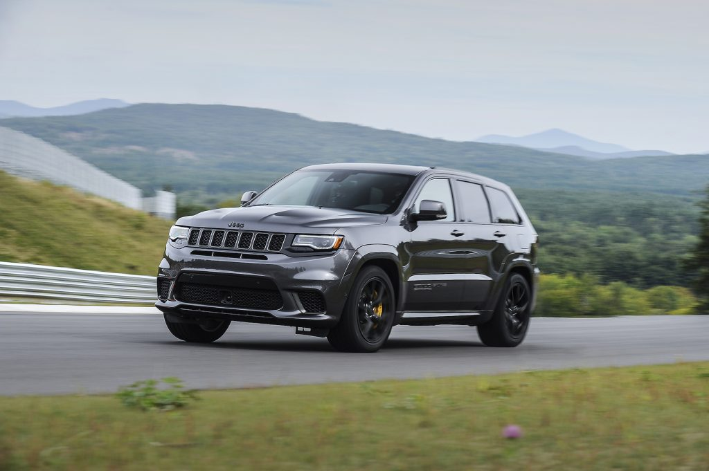 The 2018 Jeep Grand Cherokee Trackhawk, a 707-horsepower version of the Trailhawk.