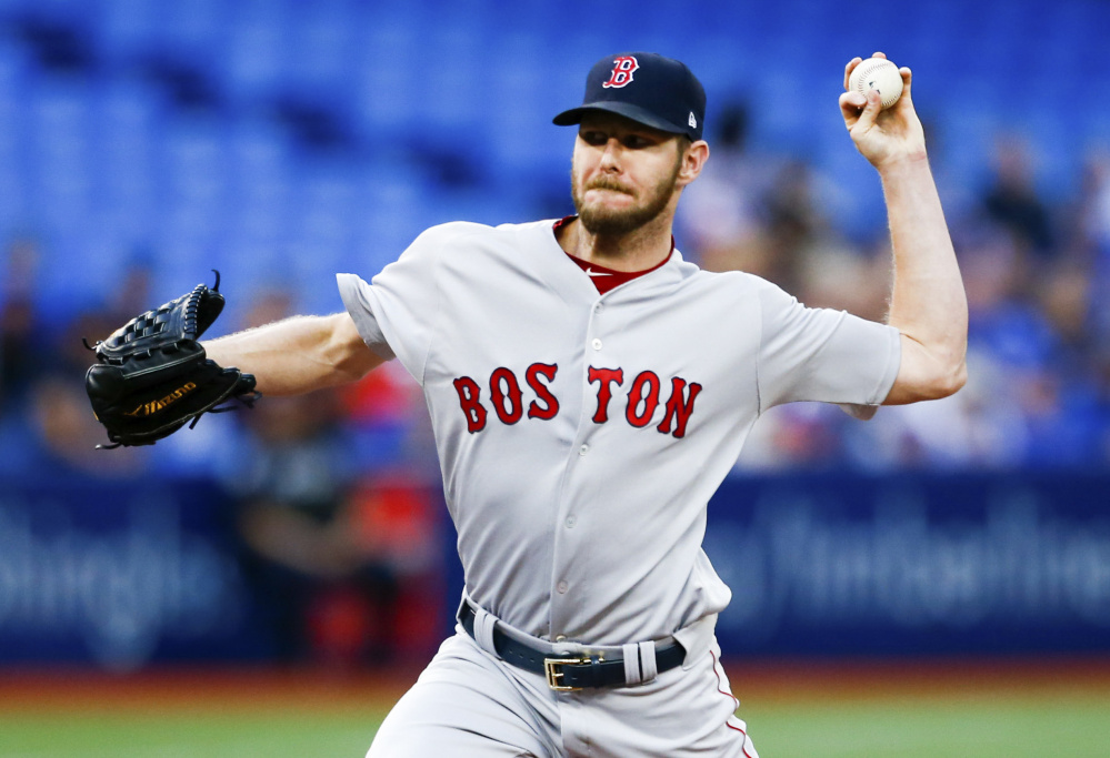 Boston's Chris Sale struck out 11 Tuesday, including the 1,500th of his career in the second inning. He reached the milestone in 1,290 innings, quicker than any other pitcher. Kerry Wood did it in 1,303 innings.