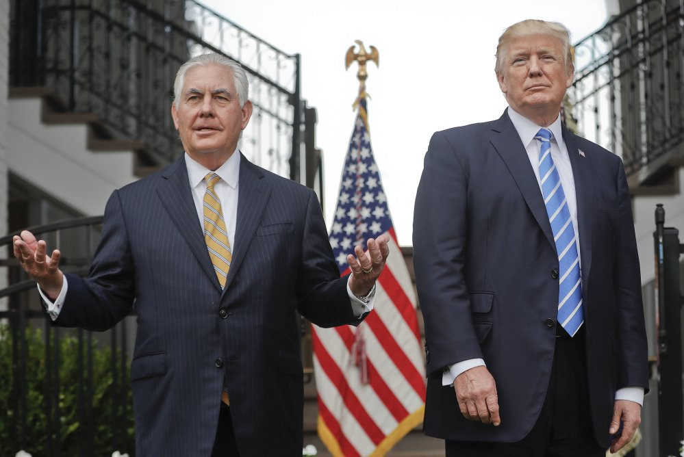Rex Tillerson and President Trump.