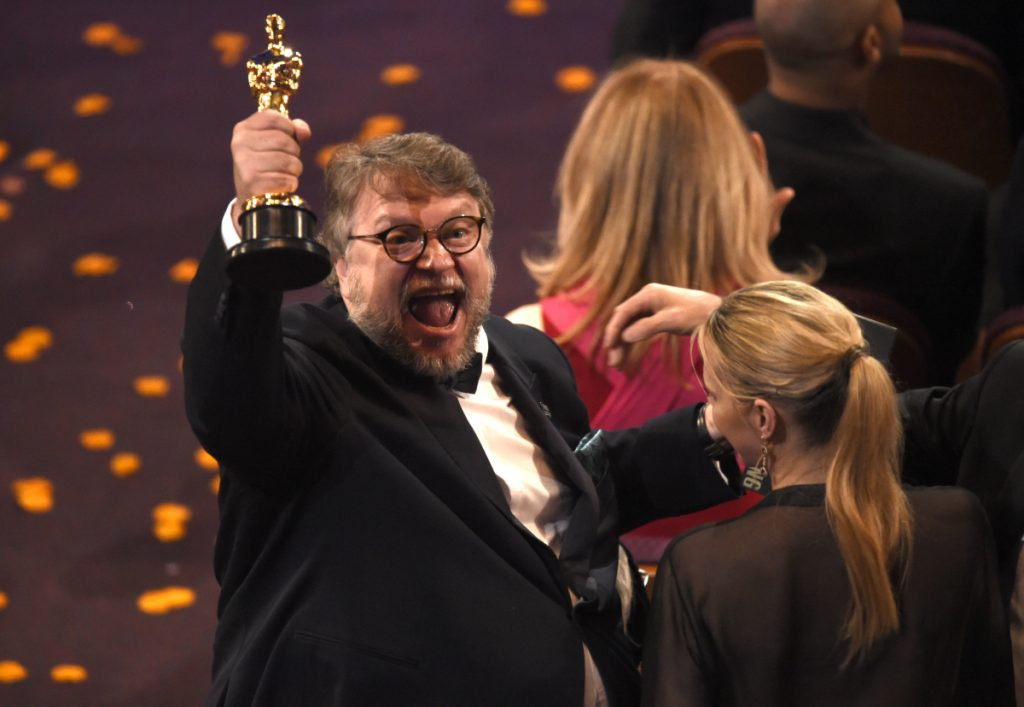 Guillermo del Toro, winner of the award for best director for