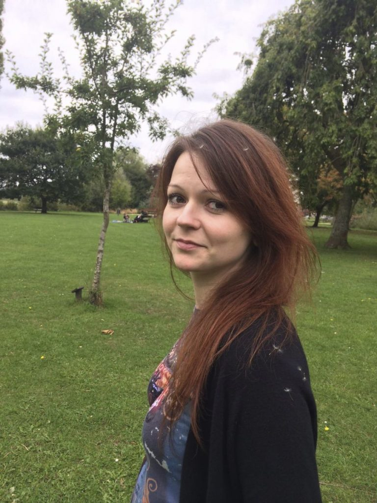Yulia Skripal, daughter of former Russian spy Sergei Skripal, was found unconscious on a park bench with her father in Salisbury, England, on Sunday. British counterterrorism police said Tuesday that they are taking over the investigation.