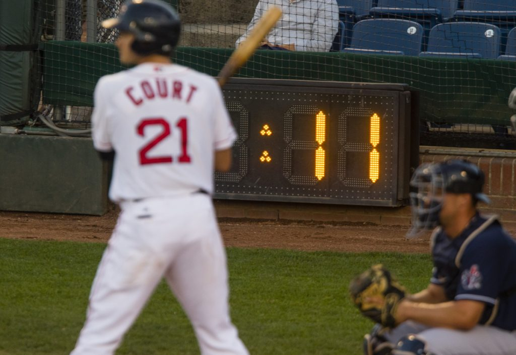 Starting in 2018, Minor League Baseball will reduce its pitch clock to 15 seconds when no runners are on base at the Double-A and Triple-A levels.