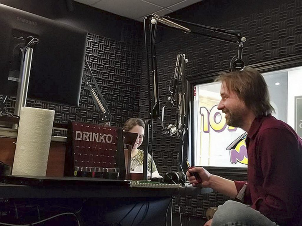 Cannabis Connection host Dawson Julia, who owns a medical marijuana shop in Unity, tapes the show's first installment. Alongside the radio host is Catherine Lewis, the director of Medical Marijuana Caregivers of Maine.