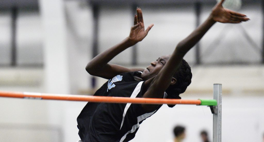 Nyagoa Bayak of Westbrook shook off her tendency to rush in the high jump, and it paid off in a big way. She set Maine's all-time best mark with a New England-winning jump of 5 feet, 10 inches, then placed third in the national championships.