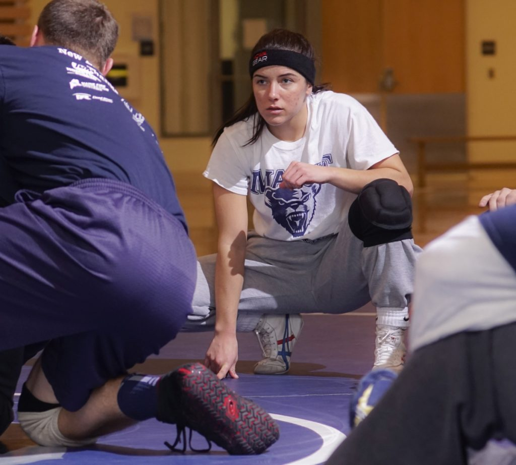 How good a wrestler is Samantha Frank, a Windham native who competes for UMaine: