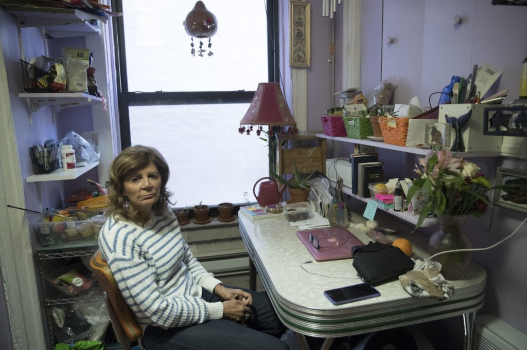 After the Kushner Cos. bought the East Village building where she lived on Social Security, Mary Ann Siwek says there were weeks of construction noise followed by an offer of $10,000 if she would leave her rent-controlled apartment. She refused, sued and won a year of free rent. Associated Press/ Mary Altaffer