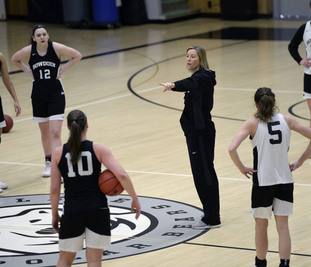 Bowdoin women's basketball coach Adrienne Shibles directed a team that dominated opponents on the way to a 29-3 record and second-place finish in the NCAA Division III tournament.