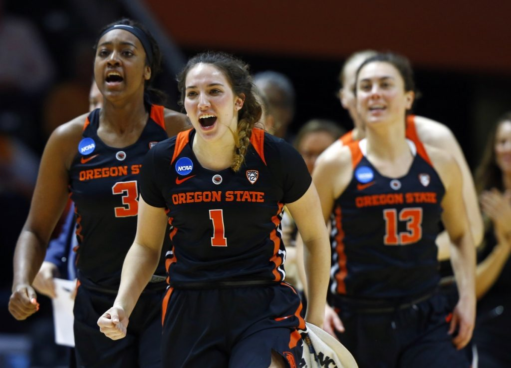 Oregon State had plenty to smile about Sunday, scoring a 66-59 victory against Tennessee, which failed to make the Sweet 16 in back-to-back seasons for the first time and lost at home in the NCAA tournament for the first time.
