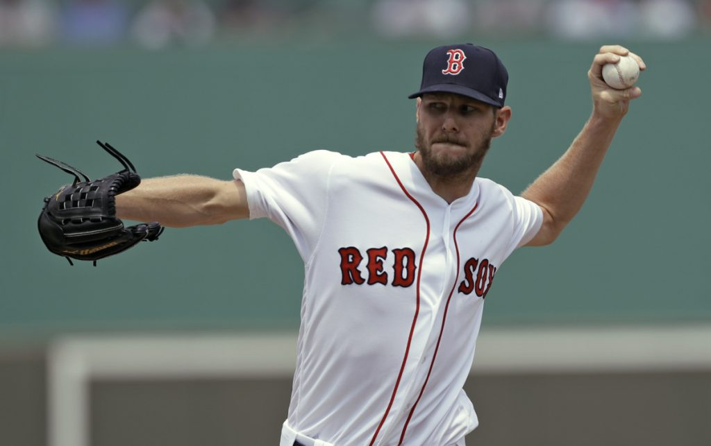Chris Sale, preparing for the regular season, pitched five innings Monday for Boston against Philadelphia, allowing four runs on five hits with three walks. He struck out six.