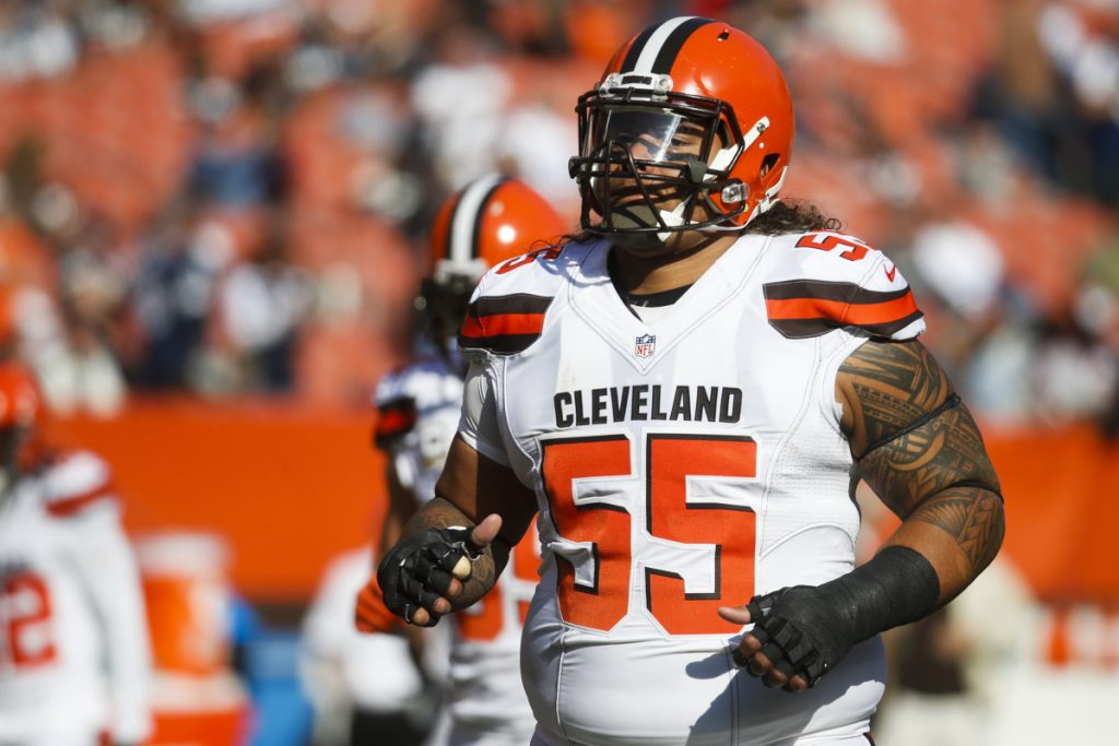 Defensive lineman Danny Shelton, who spent his first three years with the Cleveland Browns, hopes to keep wearing No. 55 with the New England Patriots, in honor of Junior Seau.