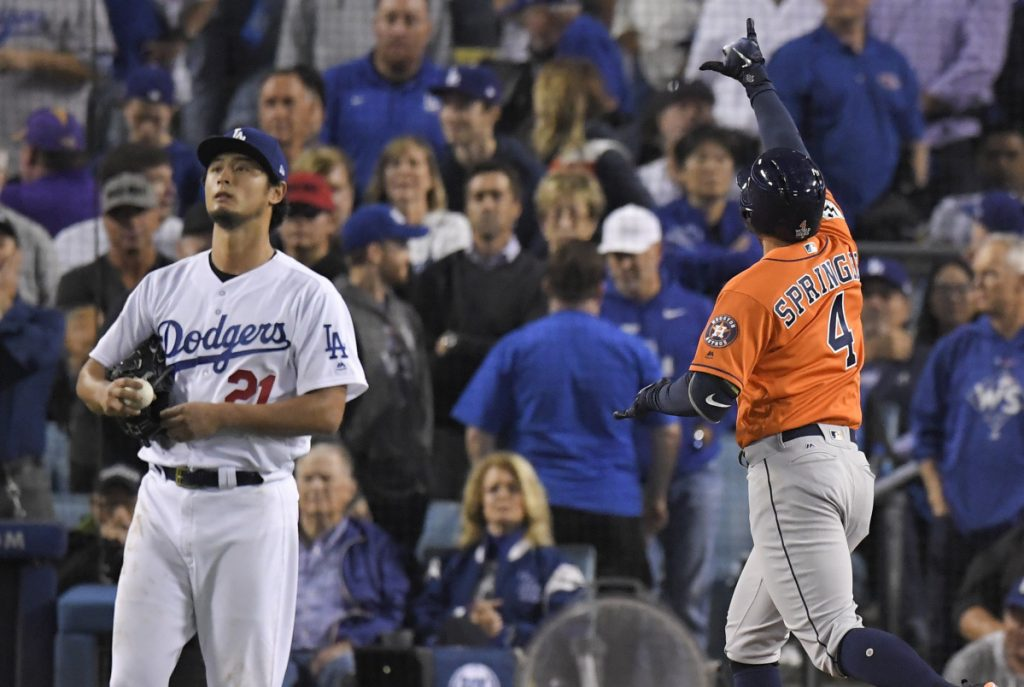 Yu Darvish was doing just fine through two playoffs starts last season with the Los Angeles Dodgers. Then came the World Series and when the Astros apparently noticed he was tipping his pitches, everything changed.