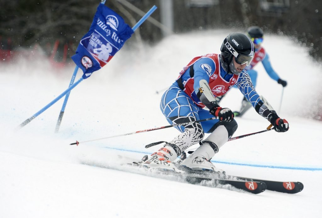 Max Richard of Farmington gets around a gate during the first World Ski Tour event held at Sunday River in March of 2017. The event returns to Newry this weekend with its head-to-head format. Qualifications are on Friday with the round of 32 eliminations starting at 11 a.m. Saturday.