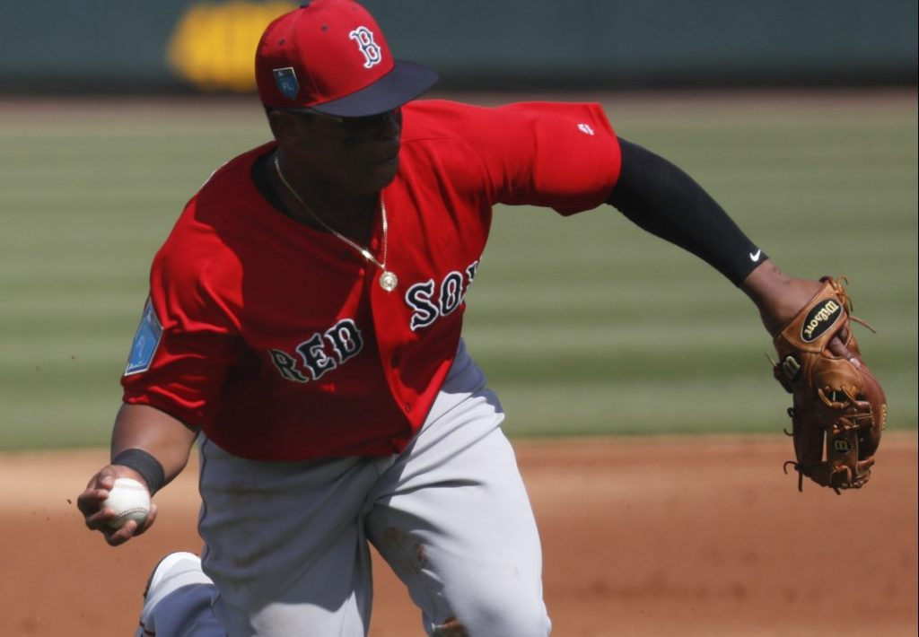 Boston's infield defense, including third baseman Rafael Devers, is not exactly stellar.