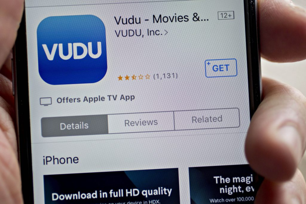 In late 2016, the Vudu application, above, began offering some movies for free if viewers didn't mind watching ads.