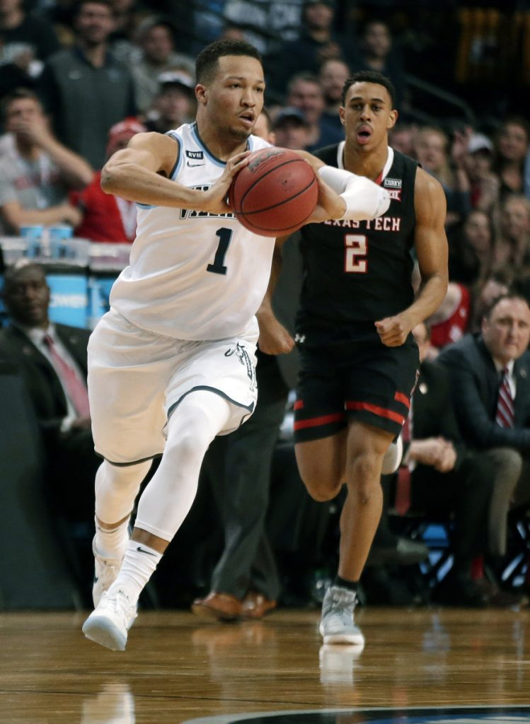 Villanova's Jalen Brunson, front, is a leading candidate to be college basketball's player of the year after leading the Wildcats back to the Final Four, but is likely just a second-round pick in the NBA draft.