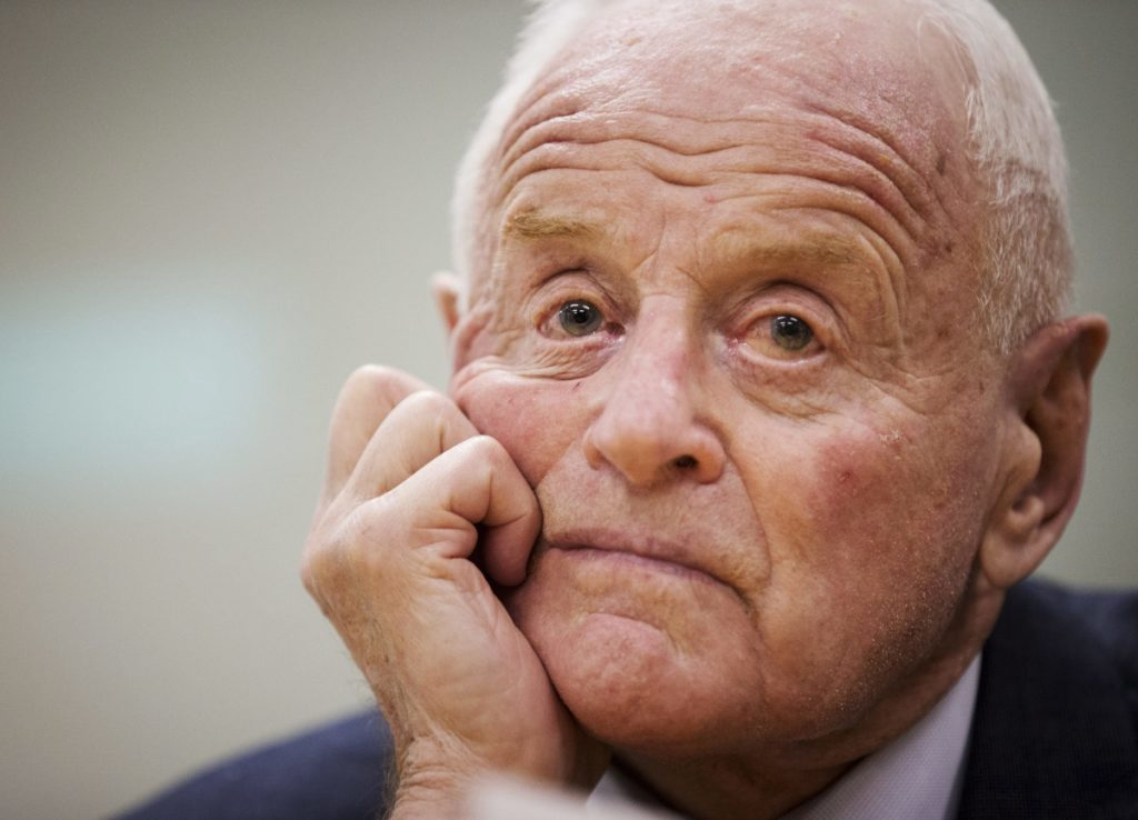 Barrick Gold founder Peter Munk at a 2013 news conference in Toronto announcing his retirement. The immigrant from Canada built what became the world's largest gold producer.