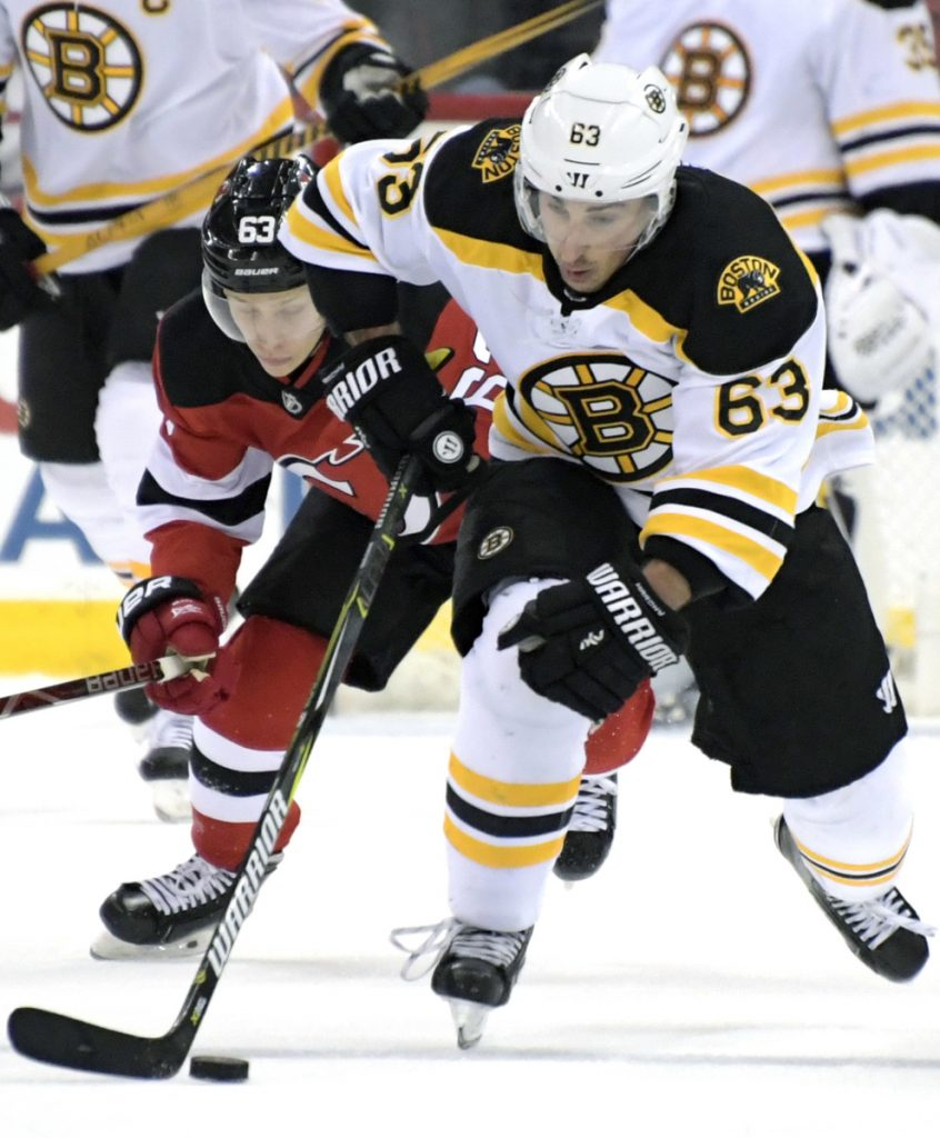 Bruins left wing Brad Marchand is having a career year with 82 points in 61 games but can't seem to avoid controversy, such as his Jan. 23 hit on New Jersey's Marcus Johansson that drew a five-game suspension.