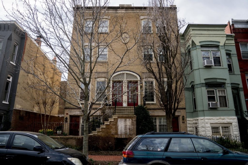 The Capitol Hill condo building where Environmental Protection Agency Administrator Scott Pruitt has stayed in Washington.