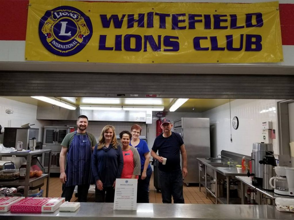 Whitefield Lions, from left, are Ethan Stevens, Charlotte Hayes, Cindy Lincoln, Laurie Bean and Steve Hatch.