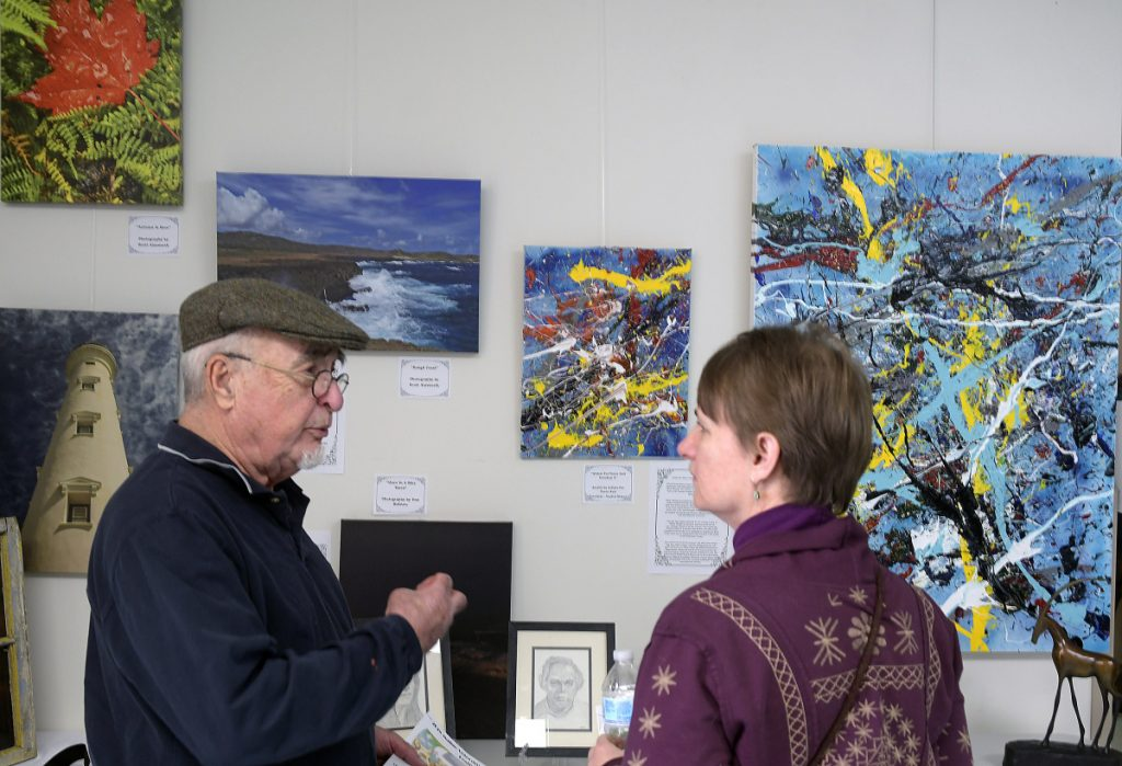 Artwork is on display Wednesday at the VA Maine Healthcare Systems-Togus, the federal hospital outside Augusta, as part of the 2018 Maine Veterans Creative Arts Competition. Officials say the event is important because creative arts are vital to a veteran's care.