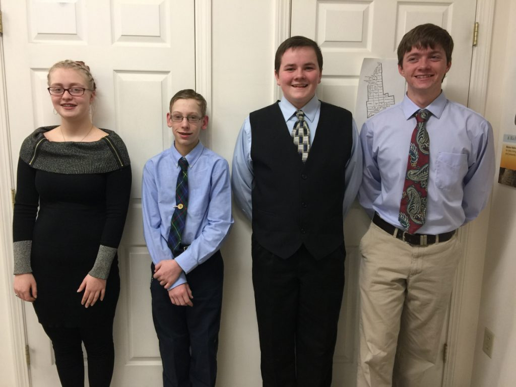 Franklin County 4-H members, from left, Allison Blauvelt, Bradley Smith, Caleb Mulcahy and Noah Mulcahy will attend the 2018 Citizenship Washington Focus in Washington, D.C. on July 4.