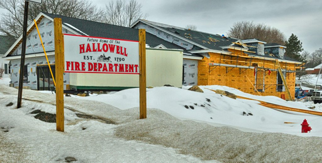 A new firehouse is under construction in Hallowell.