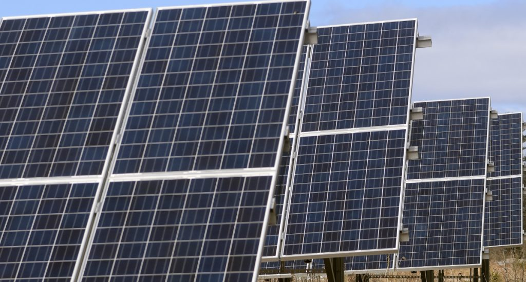 The owners of this solar array in Wayne, seen Tuesday, were in conflict with the town about its recent tax assessment of the array.