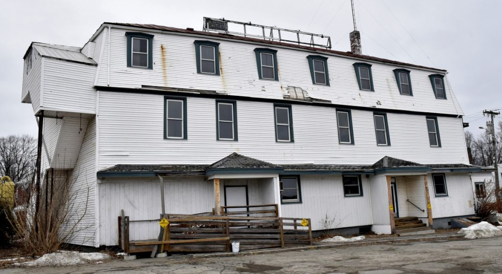 The closed Kennebec Valley Inn in Skowhegan on Wednesday. The building has been sold to the Skowhegan Economic Development Corporation which plans to tear it down.