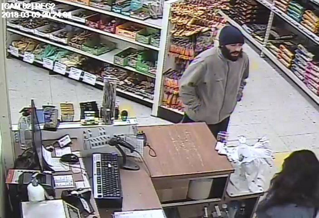 A security camera at Pet Life in Augusta captured an image of a man who police have accused of trying to rob the business on Friday.