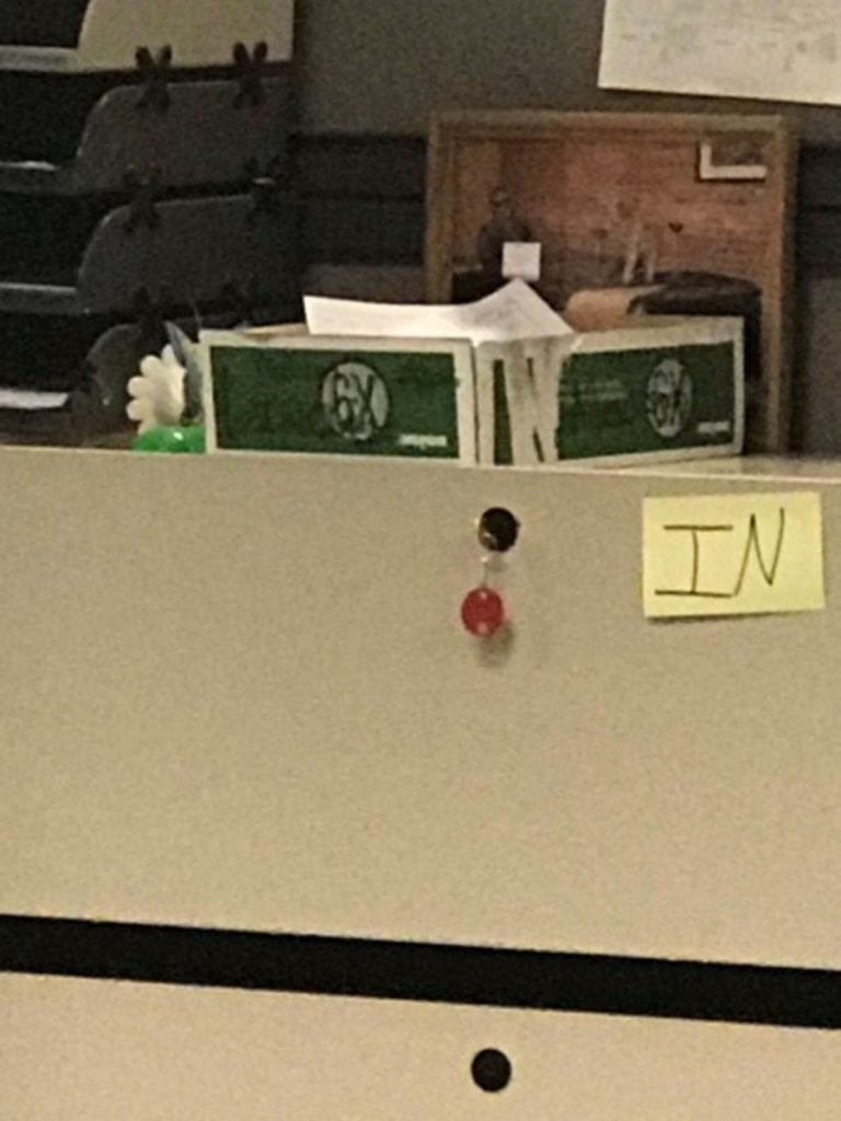 Two former employees at the Bureau of Unemployment Compensation said this box was filled with some 300 complaints from people trying to file unemployment insurance claims. The former employees said the box and its contents were taken to the office of John Feeney, the bureau director, and not seen again.