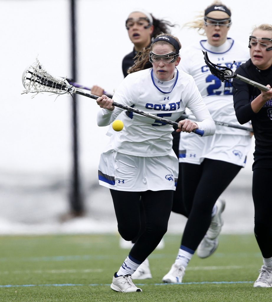 Colby midfielder Maddie Hatch moves down the field during a recent game. The Mules are off to a 1-2 start this season.