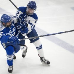 Boys hockey kennebec journal and morning sentinel colby geneseo hockey teams share same blueprint malvernweather Images