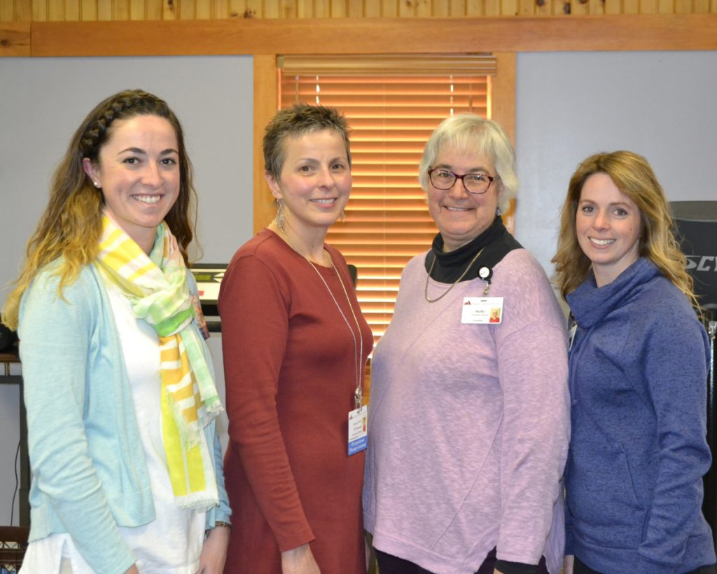 Members of Franklin Memorial Hospital's Occupational Therapy Department, from left, are Elizabeth Barton, Theresa Desjardins, Shelley Rau and Jessaka Nichols.