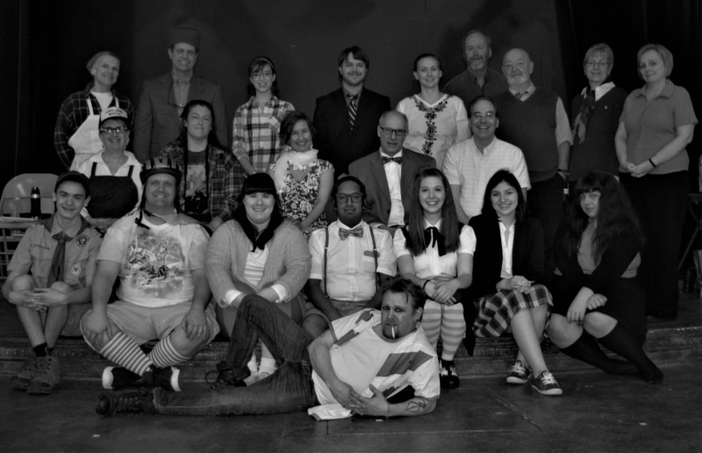 Chad Jacobson, front. Second row, from left, are Ethan Rombalski, Tim MacLeod, Sarah Flagg, Danny Gay, Megan Record, Alexa Gallant and Maya Veilleux; third, from left, Ginger Smith, Cindy Dunham, Karen Lipovsky, David Marshall and Henry Quintal; back, from left, are Ann-Marie Caron, John Lipovsky, Sarah Wheatley, Jeff Fairfield, Amy Griswold, Andy Tolman, Ray Fletcher, Jane Mitchell and Nancy Kenneally.