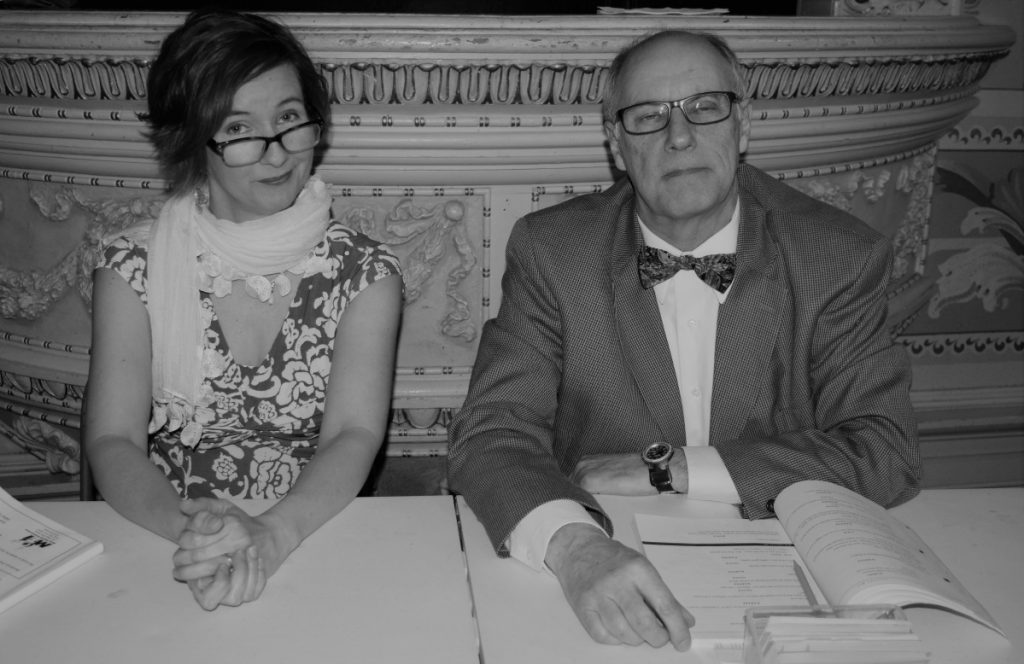 Karen Lipovsky as Rona Lisa Peretti, left, and David Marshall as Vice Principal Douglas Panch.