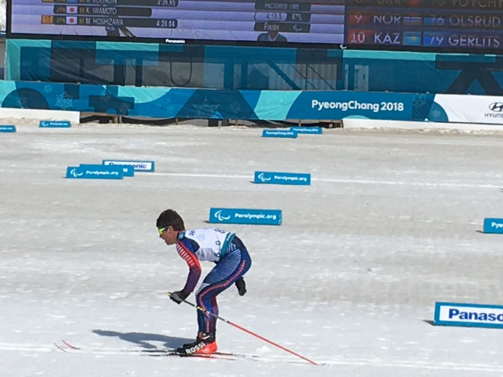 Maranacook graduate Ruslan Reiter commpeted in Nordic skiing and the biathlon at the 2018 Winter Paralympics in PyeongChang, South Korea.