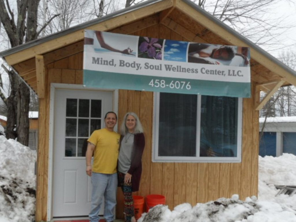Stephen and Karen Hardy at their business, Mind, Body, Soul Wellness Center, LLC, at 28 Main St. in Belgrade.
