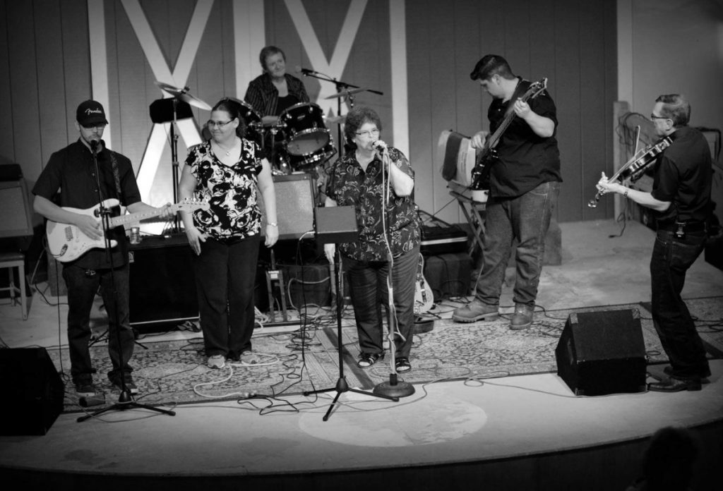From left are Chris Floyd, Jackie Floyd, Naomi Patrie (on drums), Linda LeBlanc, Pat Libby Sr. and Don LeBlanc.