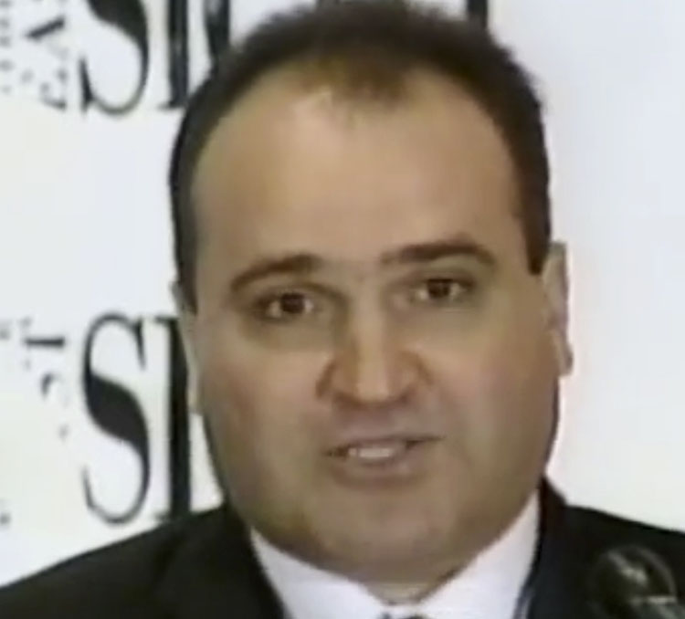This 1998 frame from video provided by C-SPAN shows George Nader, an adviser to the United Arab Emirates who is now a witness in the U.S. special counsel investigation into foreign meddling in American politics.