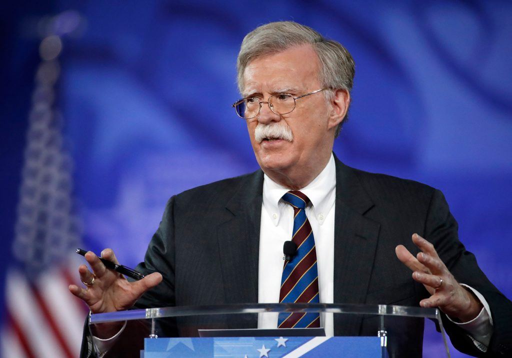 John Bolton speaks at the Conservative Political Action Conference in Oxon Hill, Md., in February 2017. President Trump named Bolton on Thursday as his new national security adviser.