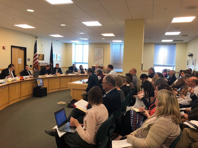 The room is packed during a hearing Monday before the Legislature's Education Committee on a bill that would shift special education services for 3- to 5-year-olds from the state to school districts.